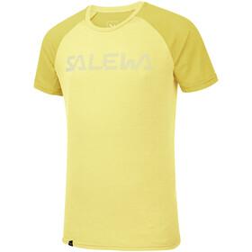 SALEWA Pedroc Delta Dry Camiseta Manga Corta Hombre, limelight/5736